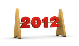 2012 abacus. One abacus with the number 2012 vector illustration