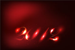 2012 Abstract Glow Numbers Stock Image
