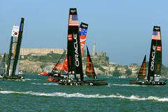 2012 Americas Cup Sailboat Race in San Francisco Royalty Free Stock Photography