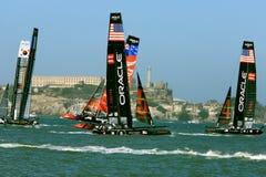 2012 Amerika-Cup-Segelboot-Rennen in San Francisco Lizenzfreie Stockfotografie