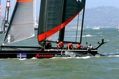 2012 Amerika-Cup-Segelboot-Rennen in San Francisco Stockbilder