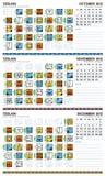2012 amerykanin kalendarzowy Grudzień majski Październik Obraz Royalty Free