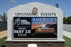 2012 Amgen Tour of California. Advertising the 2012 Amgen Tour of California in Palmdale California Stock Photo