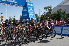 2012 Amgen Tour of California Starting Line Stock Photography