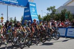 2012 Amgen Tour of California Starting Line. 2012 Amgen Tour of California Stage 6 from Palmdale to Big Bear Jens Voigt,Luke Durbridge, Sebastian Salas,Tejay van Stock Photography