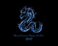 2012 è anno di drago di acqua nero Immagini Stock