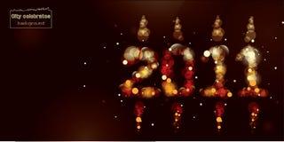 2012 - Ano novo feliz! Imagens de Stock Royalty Free