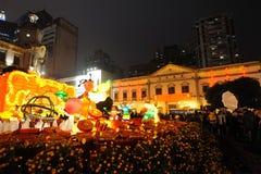 2012 anos novos chineses em macau Imagem de Stock