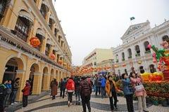 2012 anos novos chineses em macau Fotografia de Stock Royalty Free