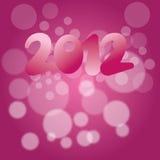 2012 anos novos de decoração da véspera ilustração royalty free