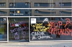 2012 anti demonstration för stångkapitalismdag kan Royaltyfria Foton