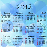 2012 aqua calendar Royalty Free Stock Photo