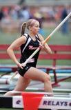 2012 athlétisme - chambre forte de dames Pôle Image stock