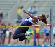 2012 athlétisme - dames en hauteur Photo stock