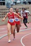 2012 athlétisme - relais des dames 4x100 Photographie stock libre de droits