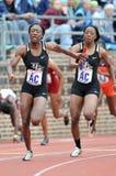 2012 athlétisme - relais des dames 4x100 photos stock