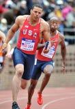 2012 athlétisme - relais des Etats-Unis d'équipe Images libres de droits