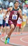 2012 atletismo - corredor de Tejas A&M Imagen de archivo libre de regalías