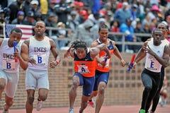 2012 atletismo - entrega do bastão Imagem de Stock Royalty Free