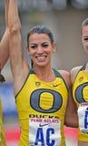 2012 atletismo - ganador de Oregon Imagen de archivo
