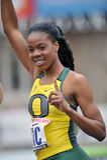 2012 atletismo - ganador de Oregon Imagenes de archivo