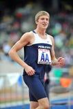 2012 atletismo - regazo de victoria del estado de Penn Fotos de archivo libres de regalías