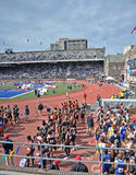 2012 atletismo - relés de Penn Fotografia de Stock Royalty Free