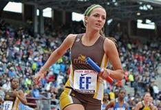 2012 atletismo - relais de las señoras 4x100 Imágenes de archivo libres de regalías