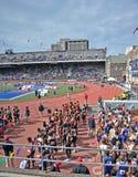 2012 atletismo - relais de Penn Fotografía de archivo libre de regalías