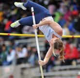 2012 atletismo - salto con pértiga de las señoras Fotografía de archivo libre de regalías