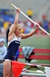 2012 atletismo - salto con pértiga de las señoras Foto de archivo libre de regalías