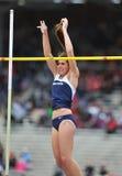 2012 atletismo - salto con pértiga de las señoras Imágenes de archivo libres de regalías