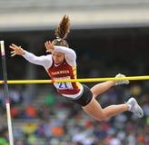 2012 atletismo - salto con pértiga de las señoras Fotos de archivo libres de regalías
