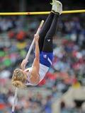 2012 atletismo - salto con pértiga de las señoras Foto de archivo