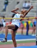 2012 atletismo - salto de altura de las señoras Imagenes de archivo