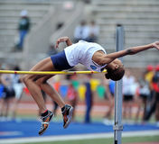2012 atletismo - salto elevado das senhoras Foto de Stock Royalty Free