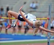 2012 atletismo - salto elevado das senhoras Imagem de Stock Royalty Free