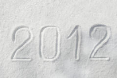 2012 auf dem Schnee Lizenzfreie Stockfotografie