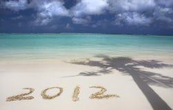 2012 auf dem Strand Stockbild