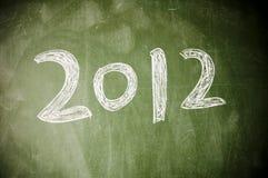 2012 auf der Tafel Stockfoto