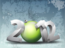 2012 background. 3d style 2012 text with blue background vector illustration