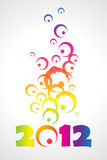 2012 background. Vector 2012 colorful floral background Royalty Free Stock Photos