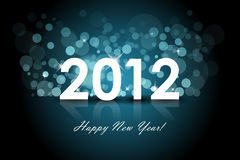 2012 background. 2012 - New year blue background Royalty Free Stock Photography