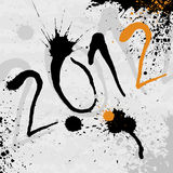 2012 background. Abstract ink bsckground for 2012 year Royalty Free Stock Photo
