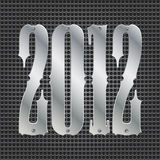 2012 background. Abstract metal background with plates of 2012 royalty free illustration