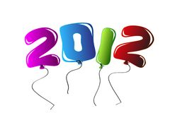 2012 Background with balloons Royalty Free Stock Images