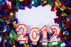 2012 background with copyspace Stock Images