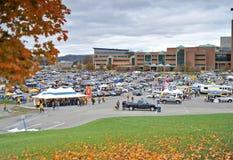 2012 balompié del NCAA - WVU contra el TCU Fotografía de archivo libre de regalías