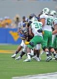 2012 balompié del NCAA - WVU contra Marshall Imágenes de archivo libres de regalías