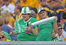 2012 balompié del NCAA - WVU contra Marshall Fotos de archivo